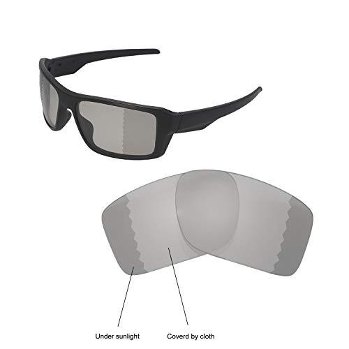 Walleva Ersatzgläser für Oakley Double Edge Sonnenbrille - Verschiedene Optionen erhältlich, Unisex-Erwachsene, Transition/Photochromic - Polarized, Einheitsgröße