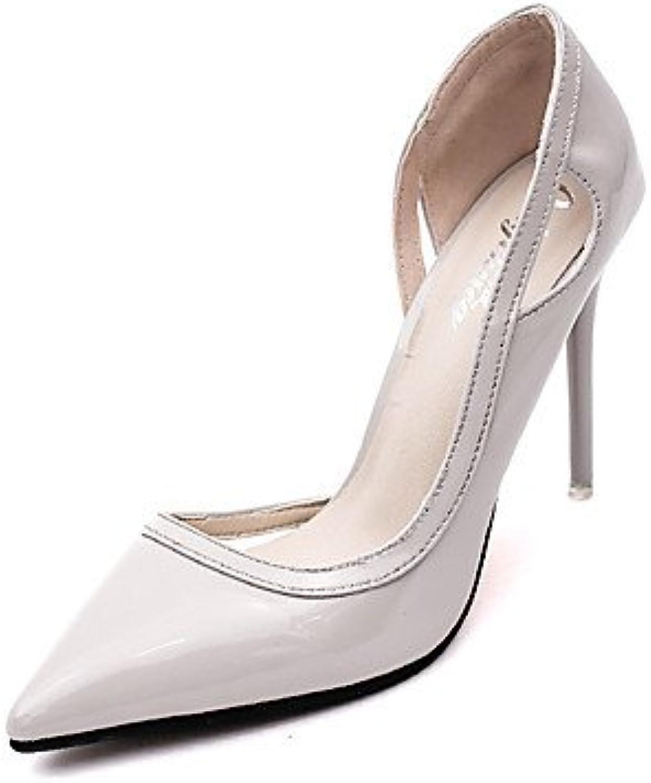 Textiles / Home ZQ los zapatos de cuero sint¨¦tico talones de la ca¨ªda de la mujer/oficina en punta del dedo...