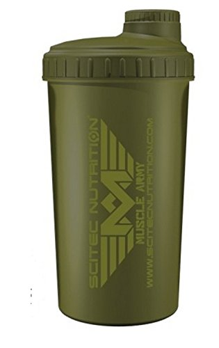 Scitec nutrition – muscle army – shaker, verde 700 ml