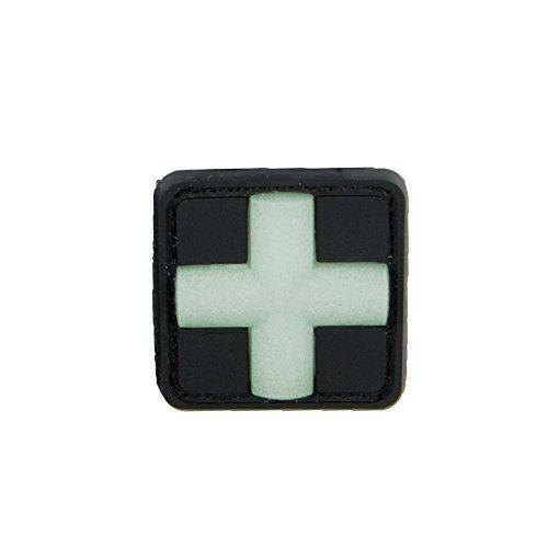 3D-Patch Red Cross Medic glow in the dark 25 mm (Glow In Cross The Dark)