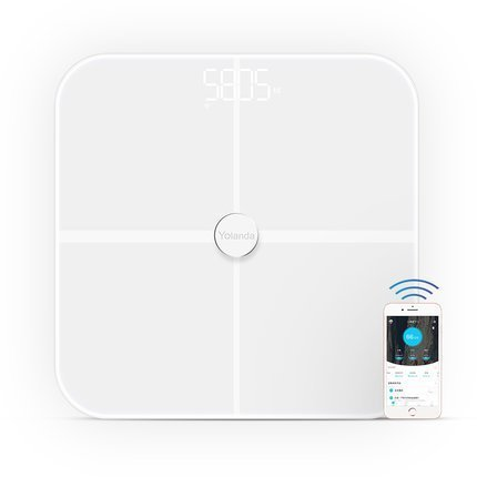 Body Fat Analyzer Scale (Körperfettwaage , Stoga Digitalwaage Körperfettwaage Präzision intelligentes Körperfett mit Fitness Fitness-Messtechnik BIA Dual-Frequenz-Blanc)