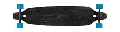 """Ridge Skateboards Regal Series Laser Cut Twin Tip Longboards Skateboard, Nero/Blu, 41"""""""