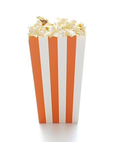 n Boxes (12 Pack) - Autumn & Fall Halloween Party Movie Theater Style Gourmet Mini Popcorn Containers by Food With Fashion (Orange Popcorn Für Halloween)