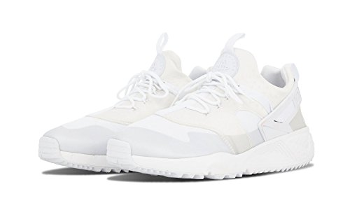 Nike Air Huarache Utility, Baskets Basses Homme, Noir (Schwarz), 44 EU Blanc