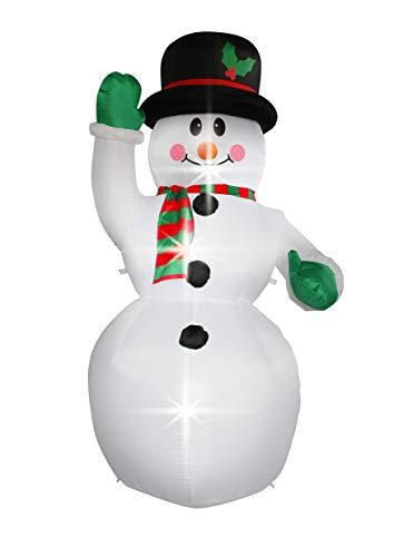 Jf deco decorazione gonfiabile del pupazzo di neve di 2.1m, decorazioni all'aperto dell'interno della casa