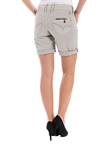 Timezone Damen Short Kairitz Short 5-pocket Shorts Grau (paloma grey 2078)