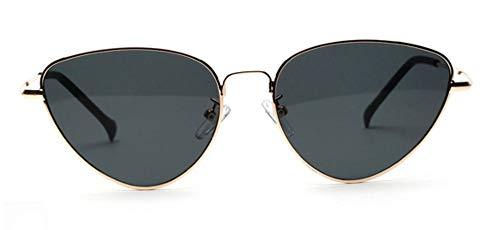 MJDABAOFA Sonnenbrillen Cat Eye Frauen Grau Sonnenbrille Getönte Farbe Objektiv Vintage Geformte Sonnenbrille Frauen Brillen Luxe Weiblichen Sonnenbrille Uv400