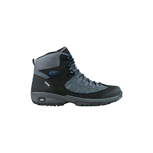 GEKA Unisex-Erwachsene Steppe Trekking-& Wanderstiefel Schwarz (Schwarz/Grau/Blau)