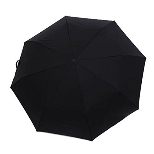 BUKUANG Ombrello WinProof Canopy Automobile Aperta E Chiudi Pieghevole ColorRain Ombrello Per Uomini E Donne Del LED,Black