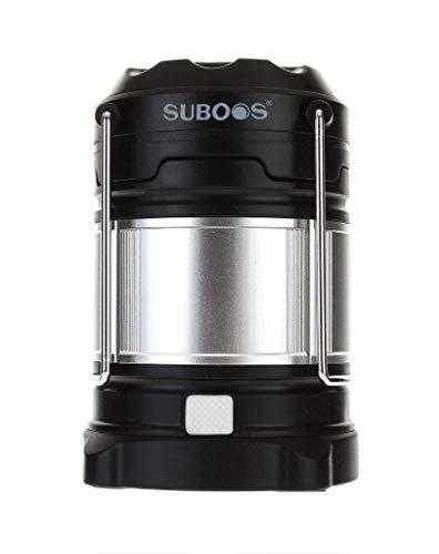 SUBOOS Ultimative wiederaufladbare LED Camping Laterne und 5200mAh Powerbank - IPX5 wasserdicht - 4 Lichtmodi - Helle Campinglampe Gartenlaterne Led USB Lampe Taschenlamp - Alle Batterien enthalten