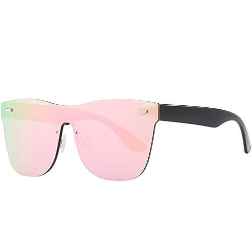 Infinity Fashion Farbige Sonnenbrille,Nourich Hochwertige Spiegel UV400 Polarized Vintage Square Glass Brille für Herren und Damen 6 Modelle wählbar Sunglasses (Rosa)