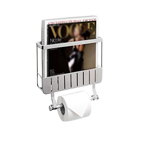 Toilettenpapierhalter Mit Zeitschriftenhalter Und Zeitschriftenhalter Wandhalter - Toilettenrollenständer - Toilettenpapierhalter Doppelreihiges Wasserdichtes Und Feuchtigkeitsfestes Duschregal