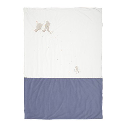 Noukie 's protectora Bao & Wapi, varios tamaños diferentes Ocean & blanc casse Talla:100 x 140 cm