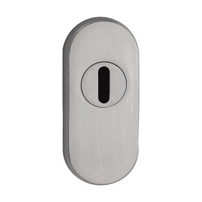 ovale Schutzrosette | V2A Edelstahl matt | Höhe 14 mm | Kernziehschutz | *Made in Germany* - Oval Matt