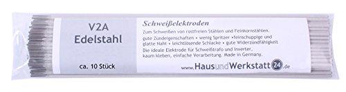 HUW24 rutile Schweißelektroden Edelstahl V2A 1,6mm 10 Stück (Edelstahlelektroden 308L)