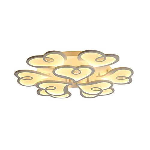 6/3 Lite Kronleuchter Lampe (MICOKY Decke Lampe 3-Kopf herzförmig einfache LED-Beleuchtung Creative-ich Moderne Nordic Light)
