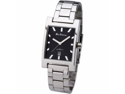 Black Dial Silver Tone Bracelet Watch by Ben Sherman - Mens watch