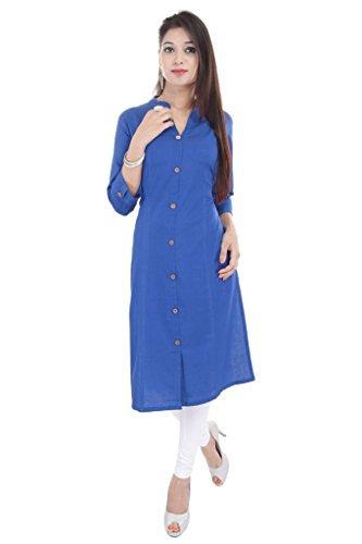 kurtis-for-women-dark-blue-cottonlength-42-by-b2s-vesta