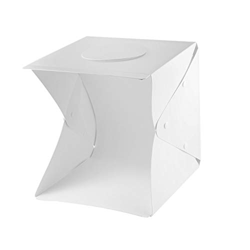 Digital Photo Cube (Ballylelly-Portable Foldable Light Room LED Photo Studio Photography Light Tent Kit Camera Photo Backdrop Mini Cube Box Light Photo Box of)