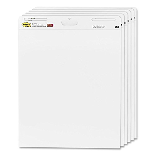 Post-it 63.5cm x 77.5cm Super Sticky Meeting Flip Chart Pads (Pack of 6) - Best Price