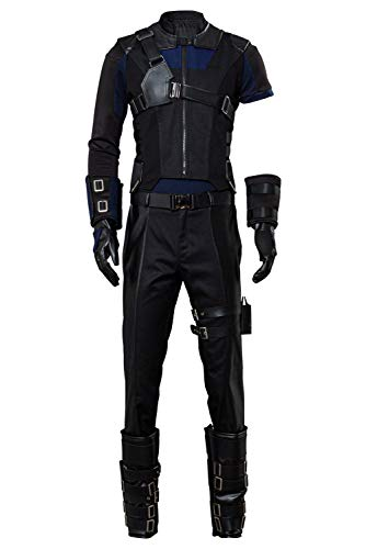 MingoTor Marvel Captain America 3 Civil War Hawkeye Cosplay Kostüm Herren XS (Captain Marvel Kostüm Schwarz)