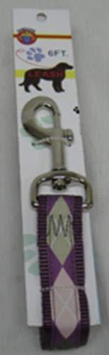Argyle-snap (Hamilton Pet Company C SLO RO 6arpm Leine aus Nylon mit Snap superkardierte Argyle, 2,5cm von 6', Pflaume)
