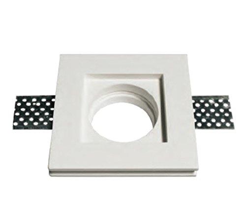 Support carré pour spot lumière, encastrable dans du plâtre pour lampes spot GU10 et GU5.3, modèle 0042