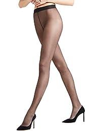 FALKE Damen Strumpfhose Seidenglatt 15 Denier - , 1 Stück, versch. Farben, Größe S-XXL - Edle, transparente Feinstrumpfhose in leicht glänzendem Look, druckfreier Komfortbund