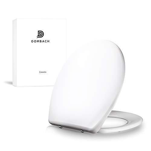Dombach Celesto Toilettendeckel • der innovative Premium WC-Sitz in weiß mit Softclose/Absenkautomatik - Quick-Release - Toilettensitz - Duroplast und rostfreier Edelstahl - WC-Brille - WC-Deckel
