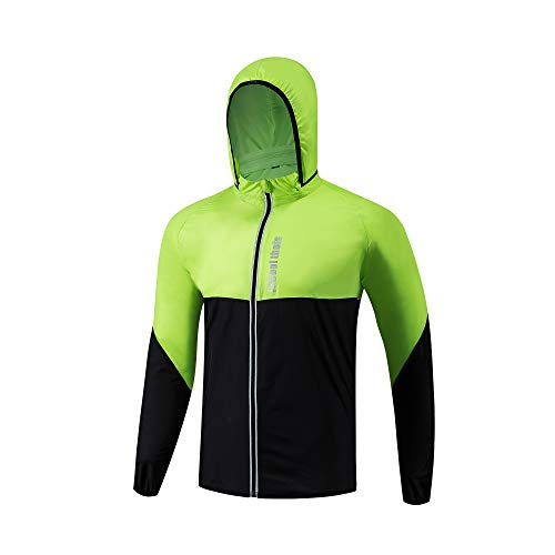 WESTGIRL Cycling Jacket Mens Women Windproof, Mountain Bike Jacket Hi Visibility, Lightweight, Quick-Drying Sportswear Suit for Riding, Running, Jogging Outdoor Sports