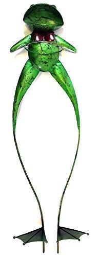 Garden ornamenti in metallo - Grande jeremy il vaso di fiori cifra rana fioriera