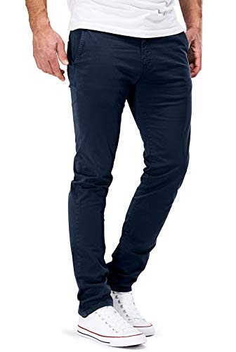 DSTROYED ® Chino Herren Slim fit Chinohose Stretch Designer Hose Neu 505 (34-30, 505 Dunkelblau) Liebe China