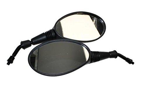 Spiegel Set für schwarz mit E-Nummer für Keeway, Generic IDEO, Explorer, ATU, SYM 50, 125, 200 Roller