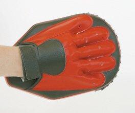 Budoten Handpratze, Kunstleder, oval mit Handschuh