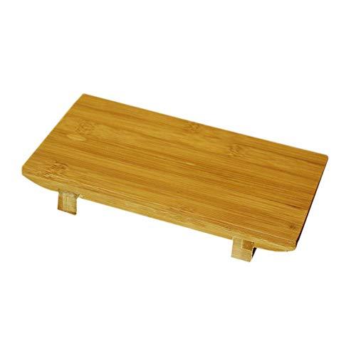 Descripción: Esta es una tabla rectangular de cocina sashimi japonesa y coreana de sushi que está hecha de bambú. No sólo es ligero y duradero, sino que también es práctico y de alta calidad. Características: Producto: tabla de sushi de bambú. Mat...