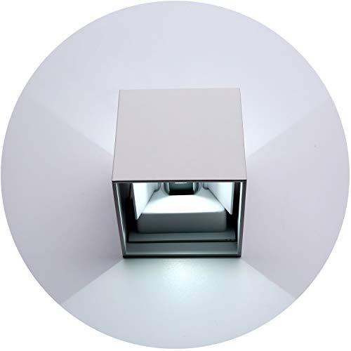 Topmo 12w da parete a LED lampada da parete di alluminio Lampada da parete Esterna Su e Giù design IP65 1320LM10 x 10 x 10 CM bianco freddo 6000K