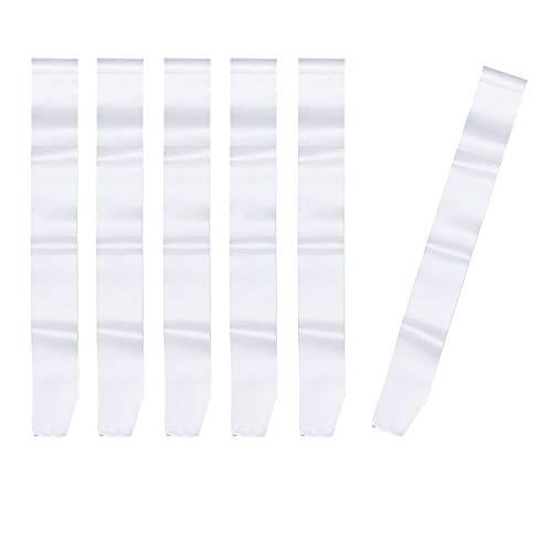 TOYANDONA 6 Piezas Fajines Bandas Blancas Satén Disfraces