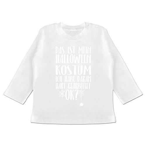 Anlässe Baby - Das ist Mein Halloween Kostüm - 6-12 Monate - Weiß - BZ11 - Baby T-Shirt Langarm