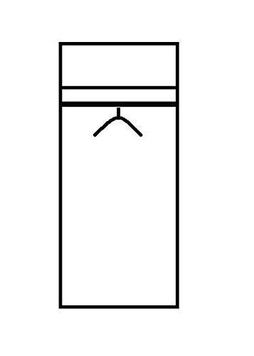 Stella Trading Base  2-türiger Kleiderschrank, Holz, sonoma, 52 x 80 x 177 cm