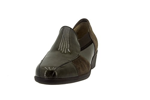 Chaussure femme confort en cuir Piesanto 7603 casual comfortables amples Taupe