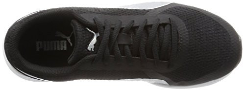 Puma Black Silver Modern S Damen Sport Schuh Mesh Sneaker Nero (Nero/Argento)