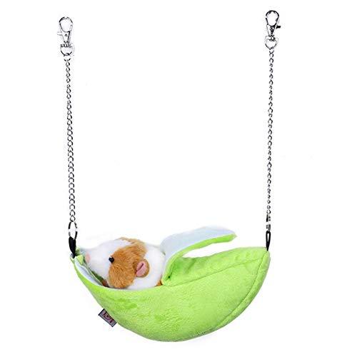 EisEyen Kuschelbett für Nager Katzen Hängematte Haustier Kätzchen Decke Käfig Hängendes Bett für Welpe Ratte Frettchen Kaninchen Kuscheltunnel Frettchen