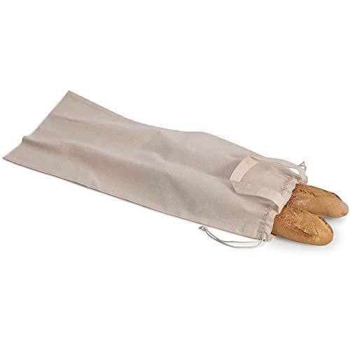 Notrash2003 - Bolsa para el Pan de algodón orgánico, con Asas y Cierre de cordón 1er