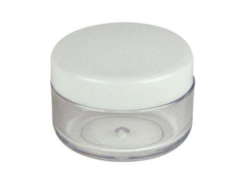 new-50pcs-3-gram-3ml-round-plastic-empty-cosmetics-cream-pot-jar-eye-shadow-nails-powder-jewelry-sam