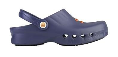 Nube - Chaussures professionnelles WOCK - Antidérapant; antistatique; ultra léger; protection contre les déversements; amortissement des chocs - Bleu marine - EUR: 35