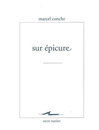 Sur Épicure par Marcel Conche