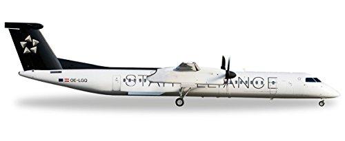 herpa-528788-austrian-airlines-bombardier-q400-star-alliance-flugzeug-schwarz-weiss