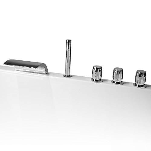 amzdeal Wannenrandarmatur Wasserhahn Badewanne Armaturen mit Handbrause