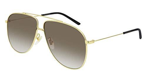 Sonnenbrillen Gucci GG0440S GOLD/BROWN SHADED Herrenbrillen