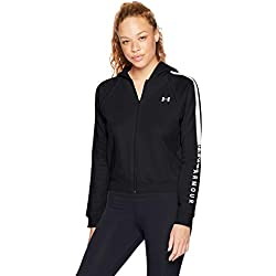 Under Armour Rival Fleece FZ - Sudadera con Capucha para Mujer, Mujer, 1317856-001, Negro/Blanco, Small